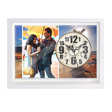 Wall Clock with Photo For Husband