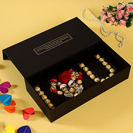 infinity roses with chocolate box online