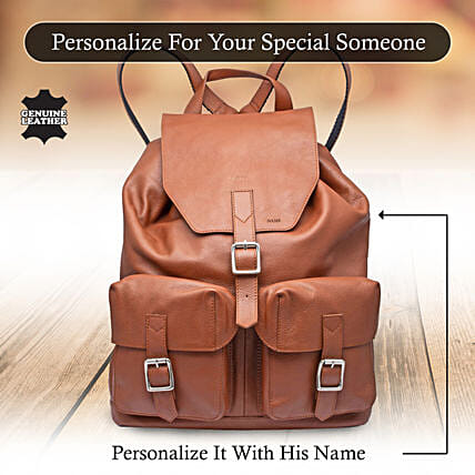 Leather Backpack Online:Personalised Leather Gifts