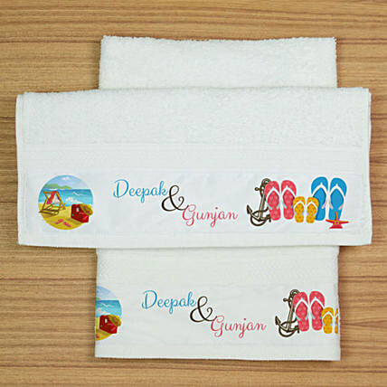 Cotton Personalised Hand Towels:Personalised Towels