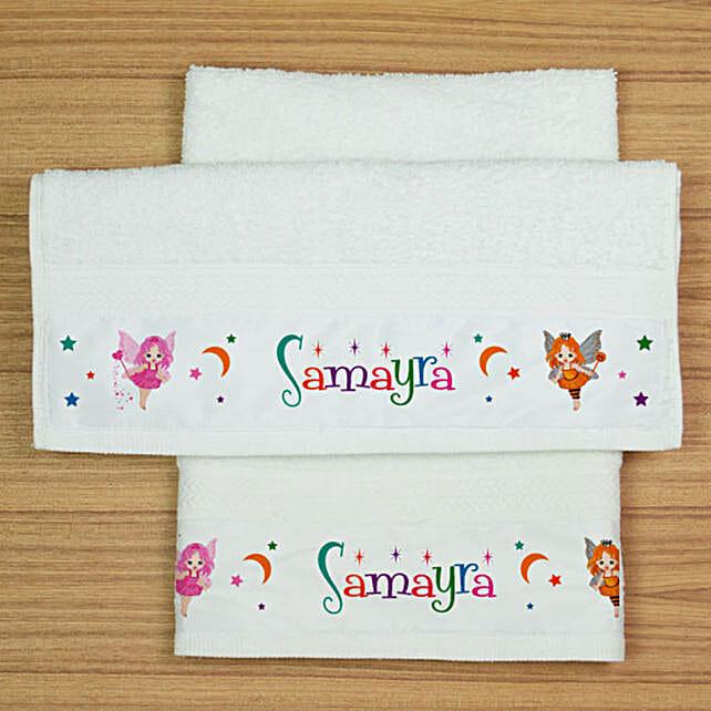 Personalised Fairy Print Hand Towel Set