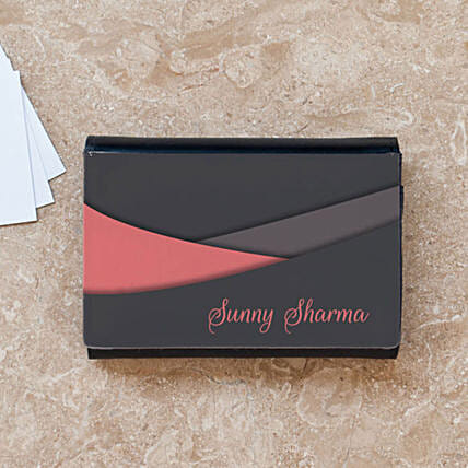 Personalised Name Business Card Case