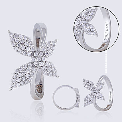 Cute Silver Ring For Her