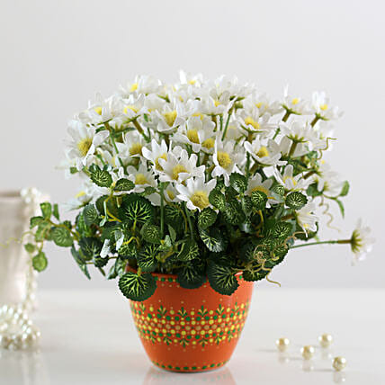 online bunch of faux white daisies online
