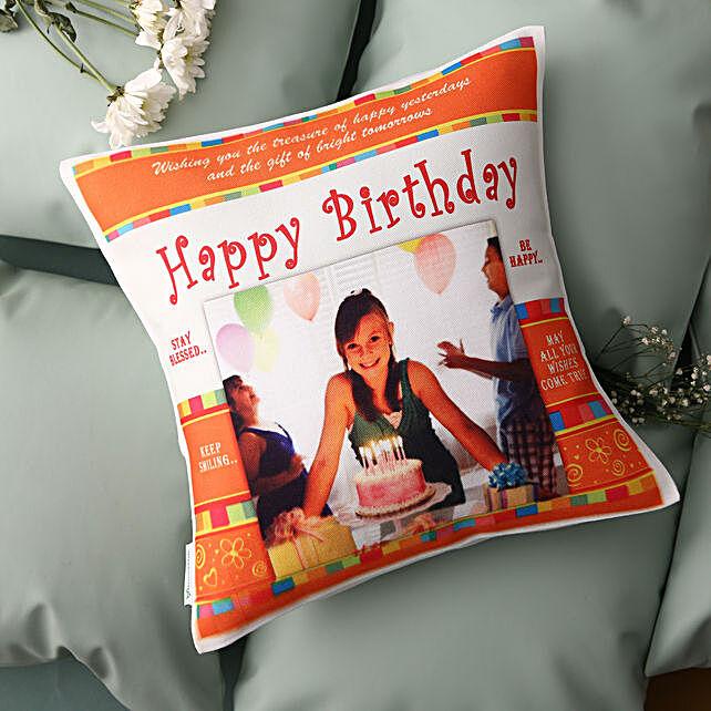 birthday printed cushion online