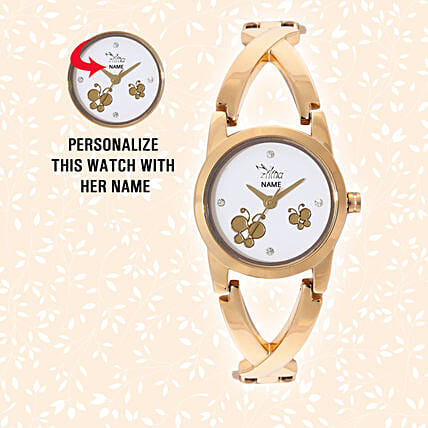 Personalised Butterfly Dial Watch