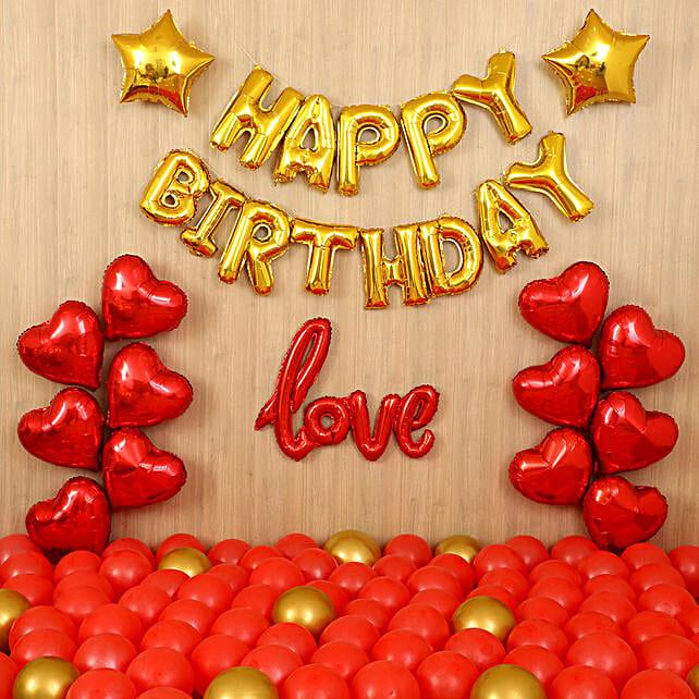 Golden Birthday Balloon Décor