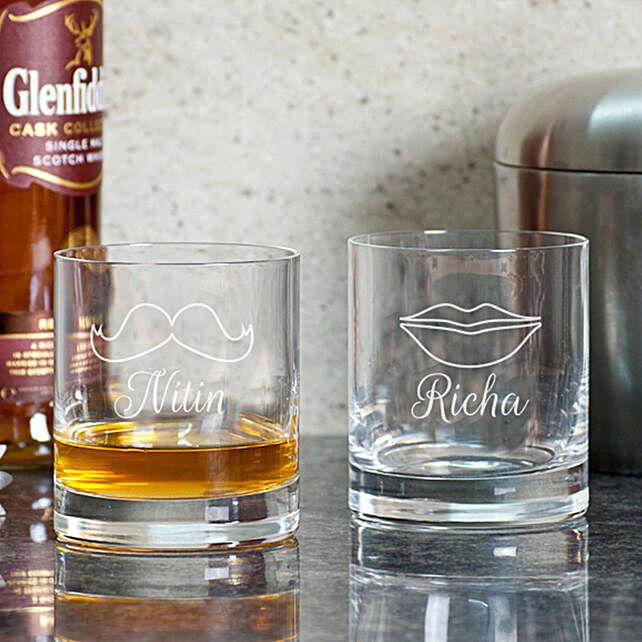 Him & Her Whiskey Glasses Online