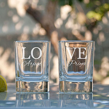 Love Personalised Shot Glasses Online