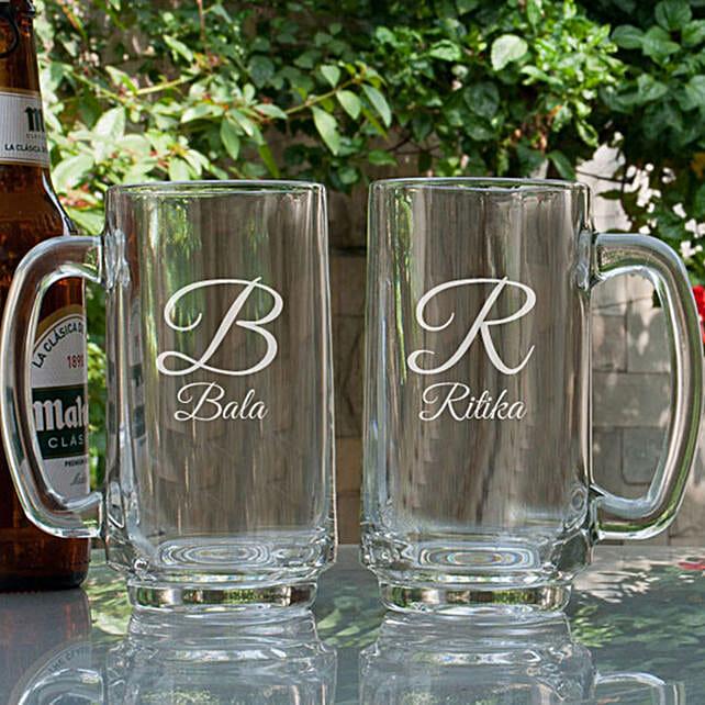 Customised Couple Beer Mugs Combo