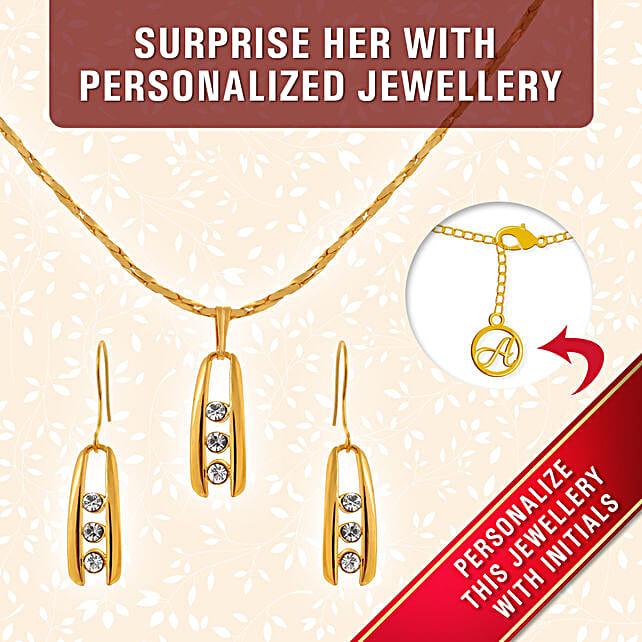fancy personalised pendant set online