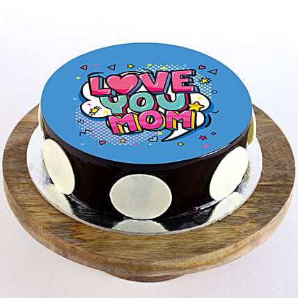 Wishing cake for mothers day