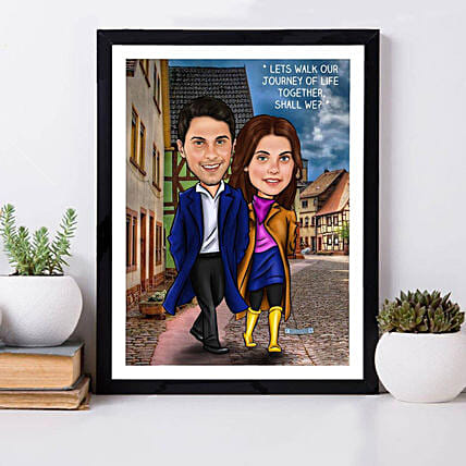 Online Romatic Caricature Frame