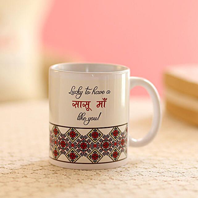 Online Saasu Maa Printed Mug:Gifts for Mother in Law