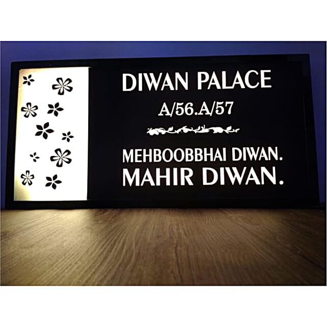 Flowery Printed Name Plate Online