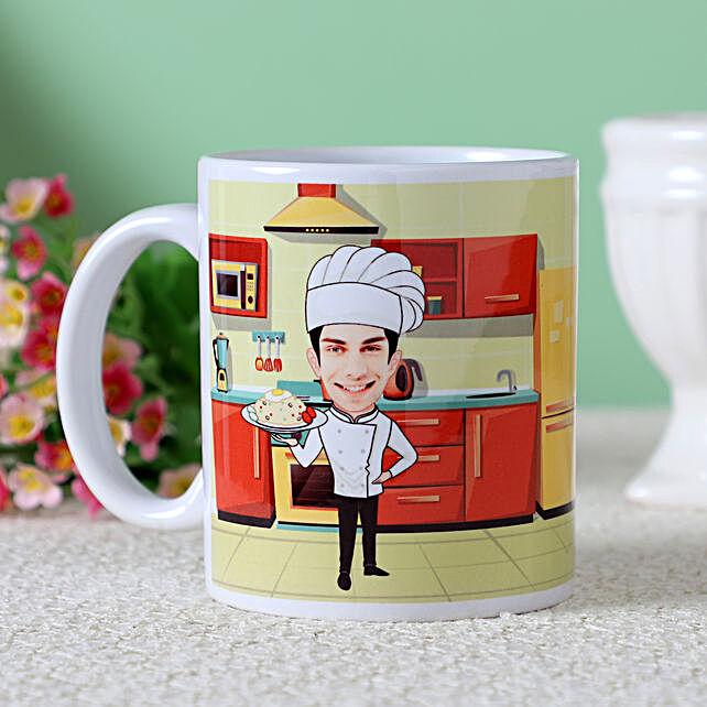 online chef caricature  mug for him