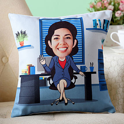 Caricature Cushion For  Boss Lady