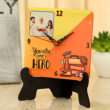 personalised table clock for dad