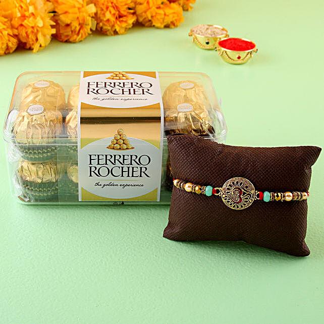 Om Rakhi & Ferrero Rocher Choco online