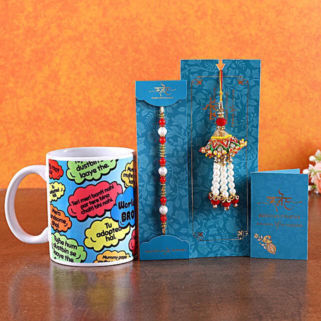 Rakhi and Mug For Bhaiya Bhabhi
