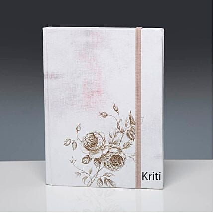 flower printed cover diary