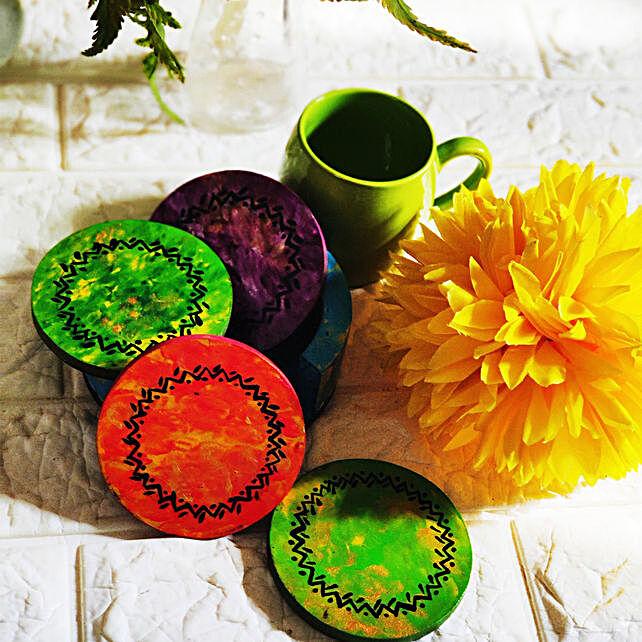 Hand painted Tea Coasters