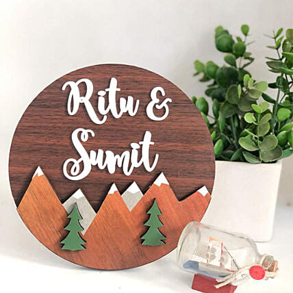 Quirky Nameplate For Travellers:Wall Clock Gifts