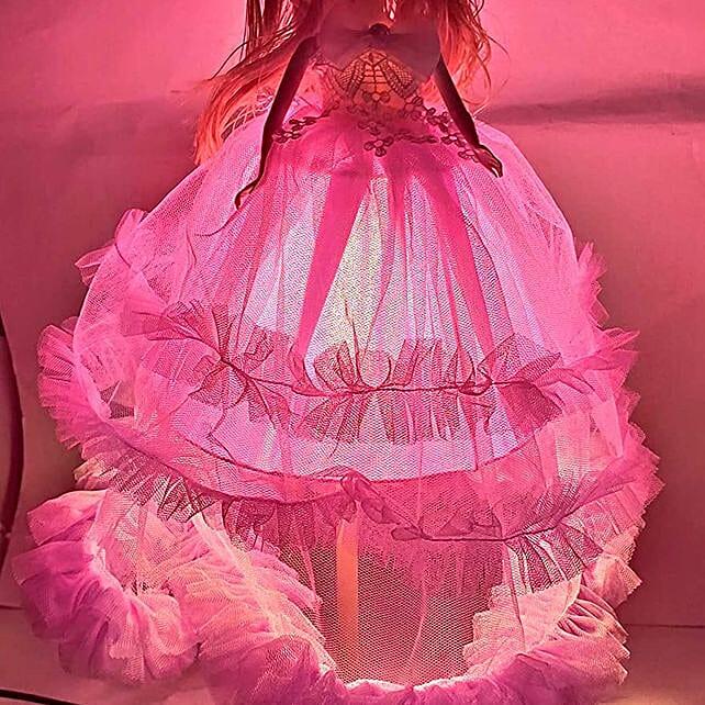 Purple Doll Lamp for Girls Room