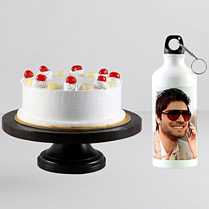 Order personalised bottle with cake online