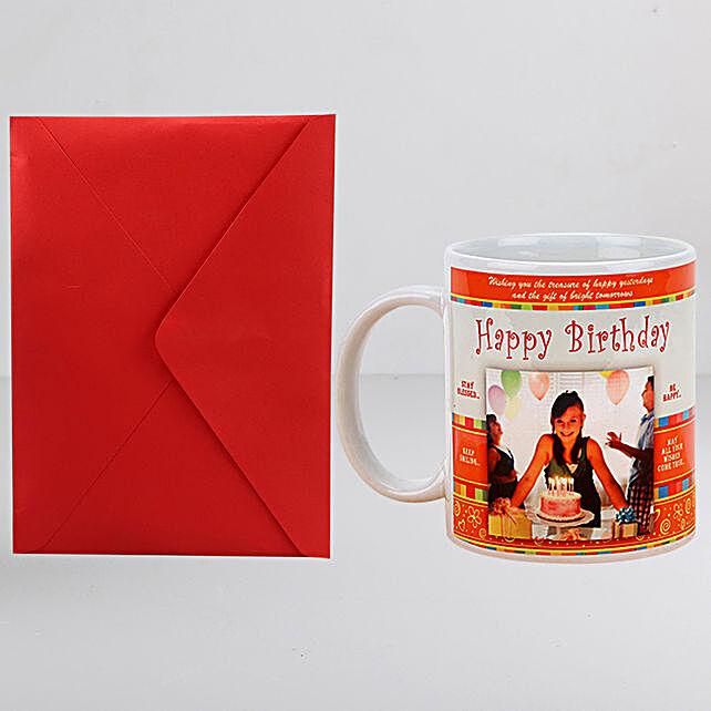 Personalised Birthday Mug n Greeting Card:Personalised Gifts N Greetings Cards