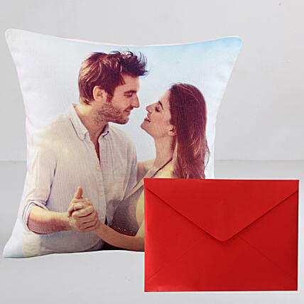 Personalised Couple Cushion n Greeting Card