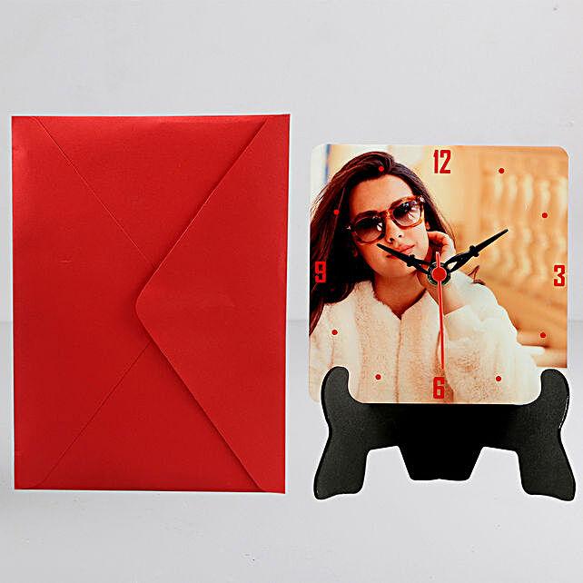 Personalised Table Clock n Greeting Card:Personalised Gifts N Greetings Cards