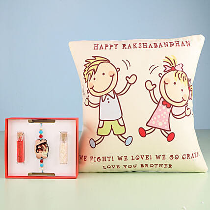 Lovely Rakhi and cushion