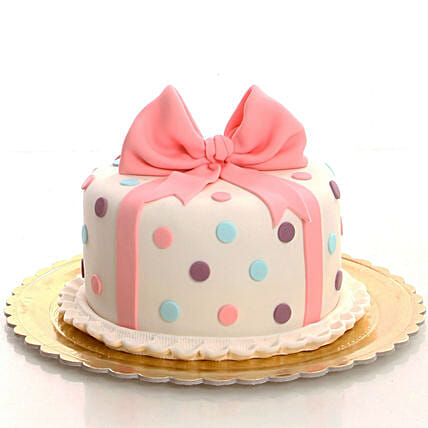 Bow Design Cake Online For Her