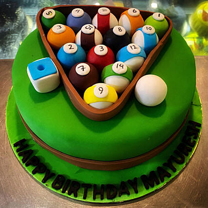 Pool Game Theme Cake Online