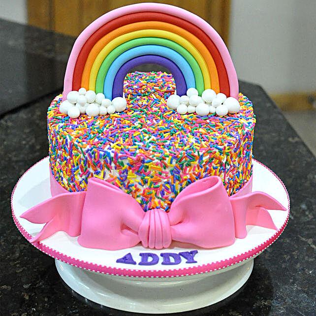 Desginer Rainbow Cake Online:Designer Cakes