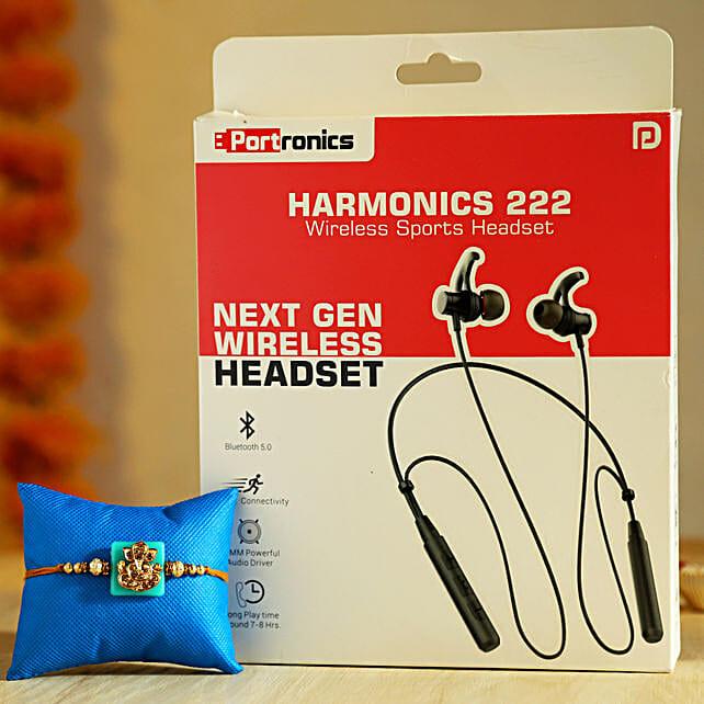 Online Ganesha Rakhi And Wireless Headset