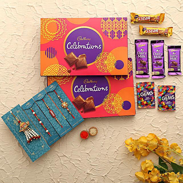 set of 4 rakhi online