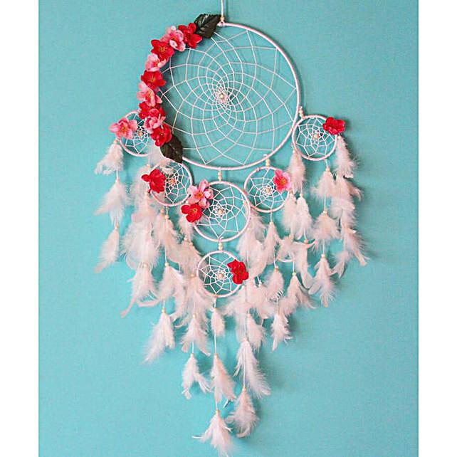 White floral dreamcatcher Buy