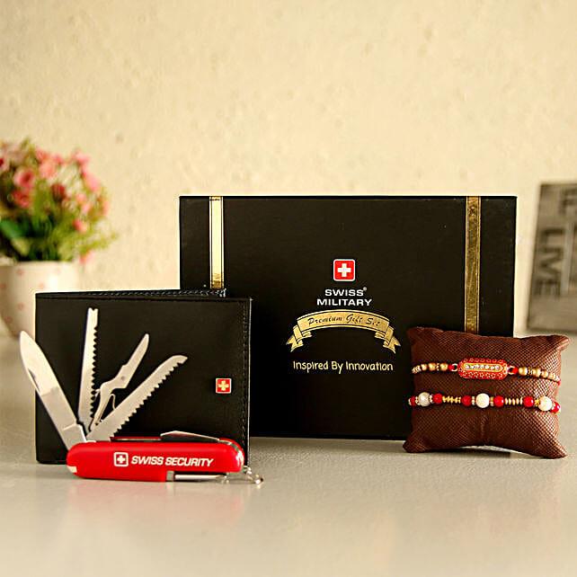 Online Wallet And Rakhi Set