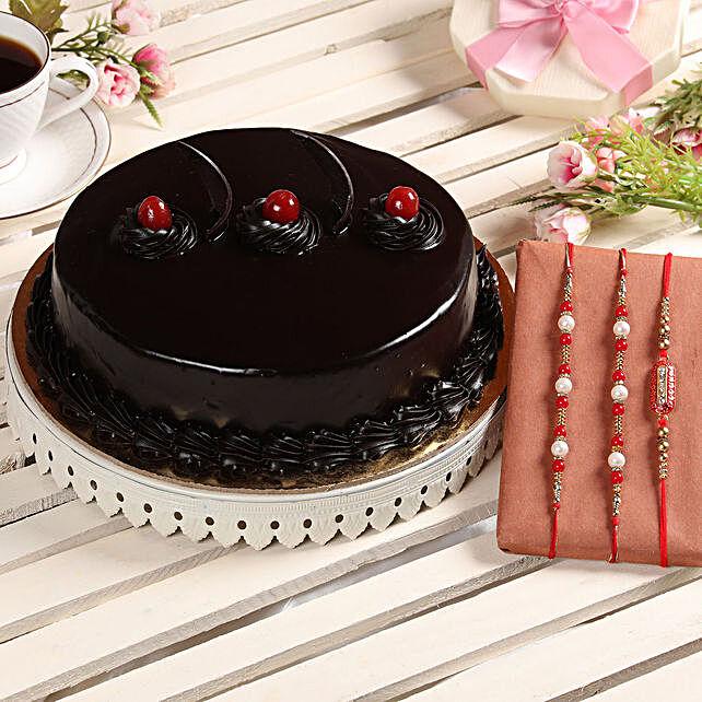 Cake with Rakhi Set Online