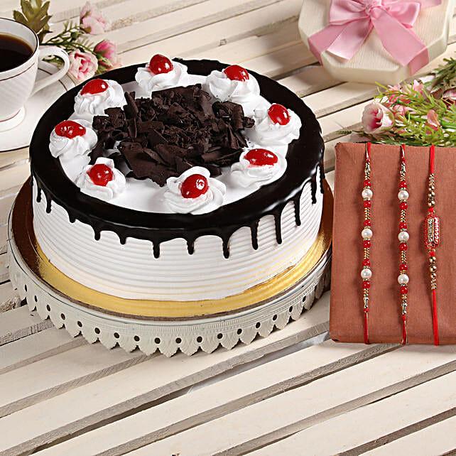 Black Forest Cake and Rakhis Online