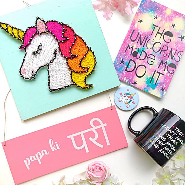 Unicorn Mug, Badge and Diary Combo