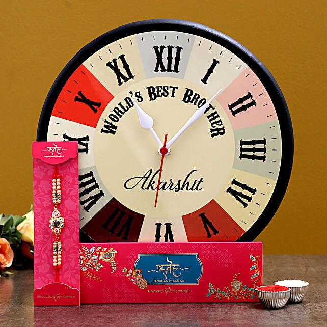 Online Rakhi With Wall Clock