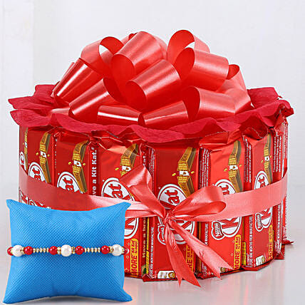 Meenakari Rakhi Kit Kat Chocolate Arrangement