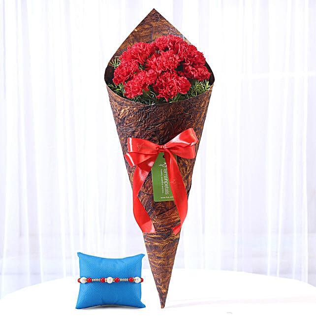 Rakhi with Carnations Online