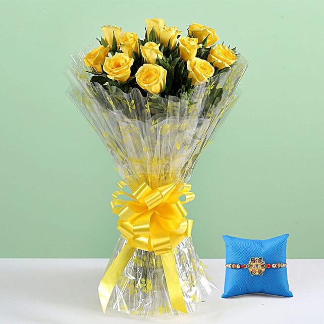 Fancy Rakhi with Flower Online
