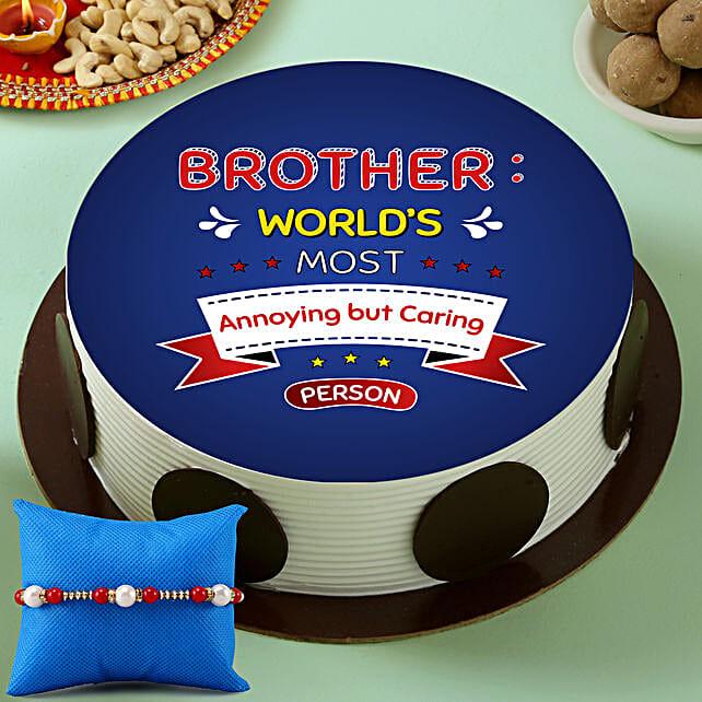 Rakhi Cake for Brother Online:Order Rakhi with Cakes