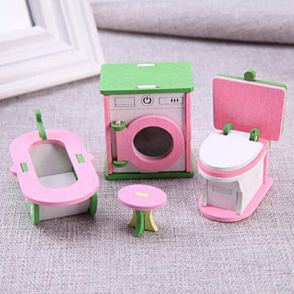 Wooden Doll House  Play Set
