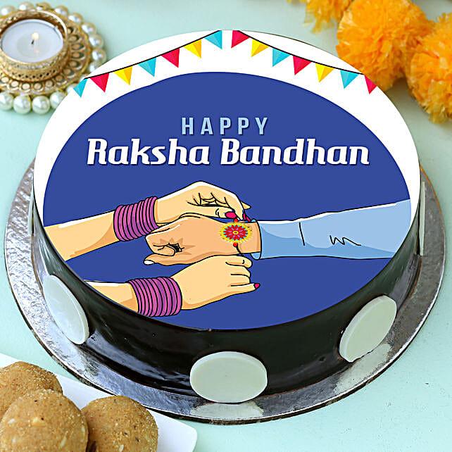 Online Rakhi Photo Cake